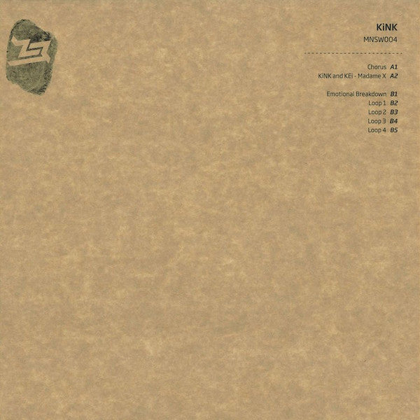 "KiNK ‎– Chorus 12"" Midnight Shift Records ‎– MNSW 004"