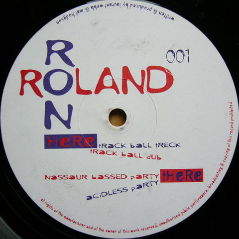 "Ron & Roland ‎– Nassaur Bassed Party 12"" Surreal ‎– SUR001"