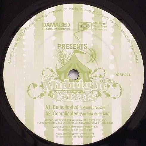 "The Midnight Circus - Complicated 12"" Damaged Goods Recordings, Stereohype Recordings DGSH001"