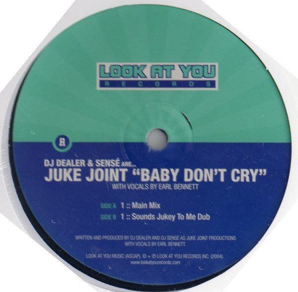 "Juke Joint ‎– Baby Don't Cry 12"" Look At You Records ‎– LAY058"