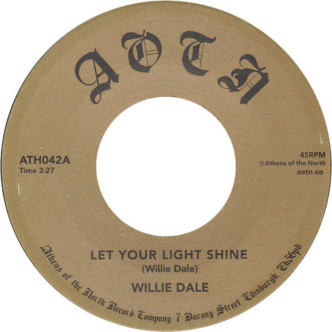Willie Dale ‎– Let Your Light Shine - Athens Of The North Record Company ‎– ATH042