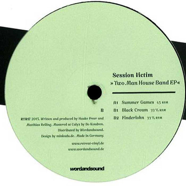 "Session Victim ‎– Two Man House Band EP 12"" Retreat ‎– RTR17"