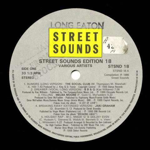 "Various - Street Sounds Edition 18 12"" STSND18 Street Sounds"