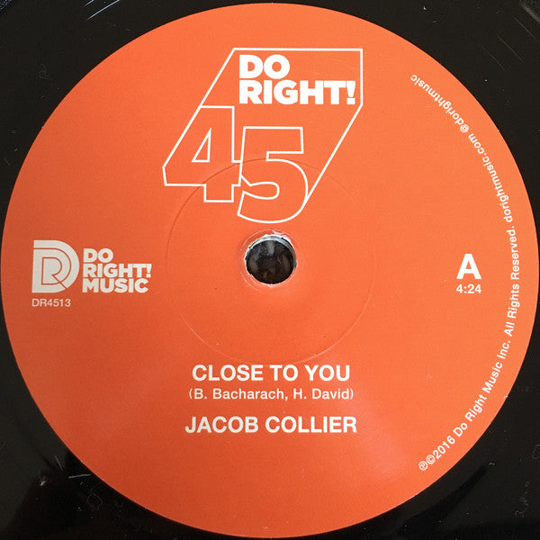 Jacob Collier ‎– Close To You - Do Right! Music ‎– DR4513