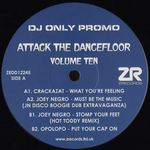 "Various ‎– Attack The Dancefloor Volume Ten 12"" Z Records ‎– ZEDD12245"
