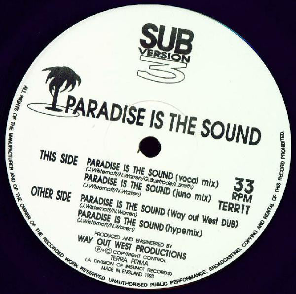 "Sub-Version 3 - Paradise Is The Sound 12"" Terra Firma TERR1T"