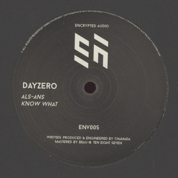 "Dayzero - ALS-ANS/Know What 12"" Encrypted Audio ‎– ENV005"