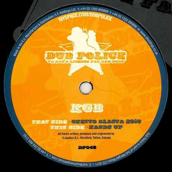 "KGB - Ghetto Blasta 2010 / Hands Up 12"" Dub Police DP049"