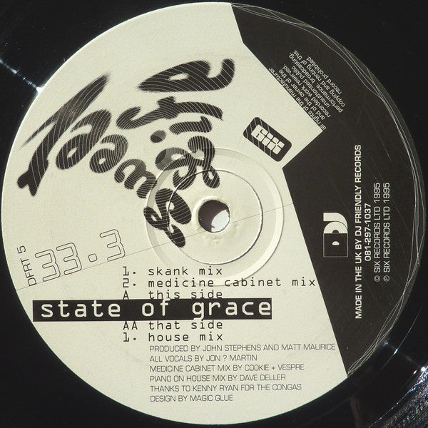 "Sweet Life - State Of Grace 12"" DJ Friendly Records DFRT 5"