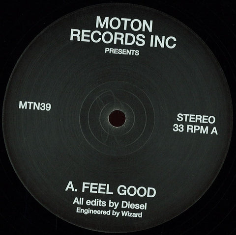 "Diesel ‎– Feel Good 12"" Moton Records Inc ‎– MTN39"