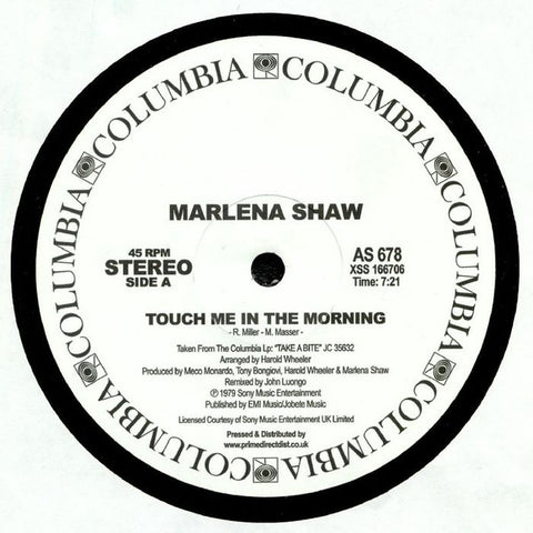 Marlena Shaw ‎– Touch Me In The Morning - Columbia ‎– AS 678