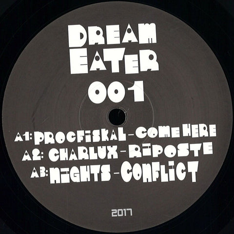 "Various ‎– Dream Eater 001 12"" Dream Eater Records ‎– Dream Eater 001"