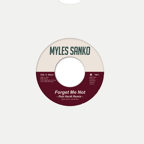 Myles Sanko ‎– Forget Me Not / Promises - Legere Recordings ‎– LEGO131-VL