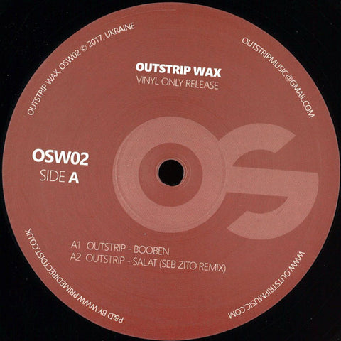 Outstrip ‎– Booben - Outstrip Wax ‎– OSW02