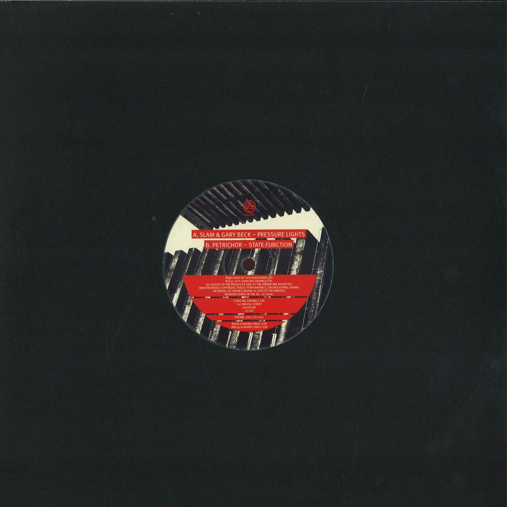 "Slam & Gary Beck, Petrichor ‎– Pressure Lights 12"" Soma Quality Recordings ‎– SOMA432"