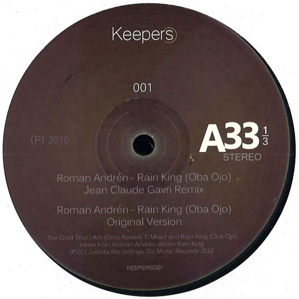 "oman Andrén ‎– Rain King 12"" Keepers ‎– KEEPERS001"