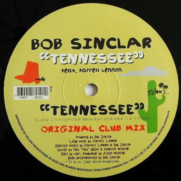 "Bob Sinclar - Tennessee 12"" Yellow Productions YP 225"