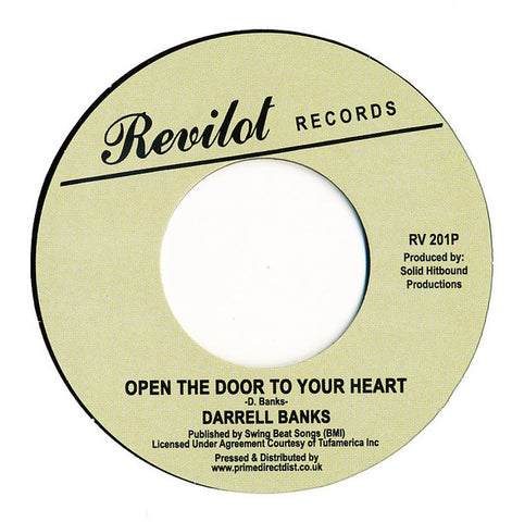 Darrell Banks ‎– Open The Door To Your Heart - Revilot Records ‎– RV 201P