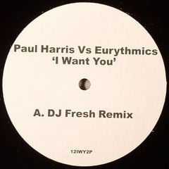 "Paul Harris Vs Eurythmics ‎– I Want You 12"" Cr2 Records ‎– 12IWY2P"