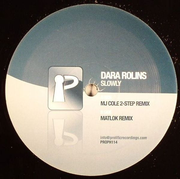 "Dara Rolins - Slowly 12"" Prolific Recordings PROPH114"