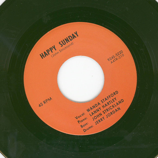 Wanda Stafford ‎– Happy Sunday / Blue Guitar - Tramp Records ‎– TR-210