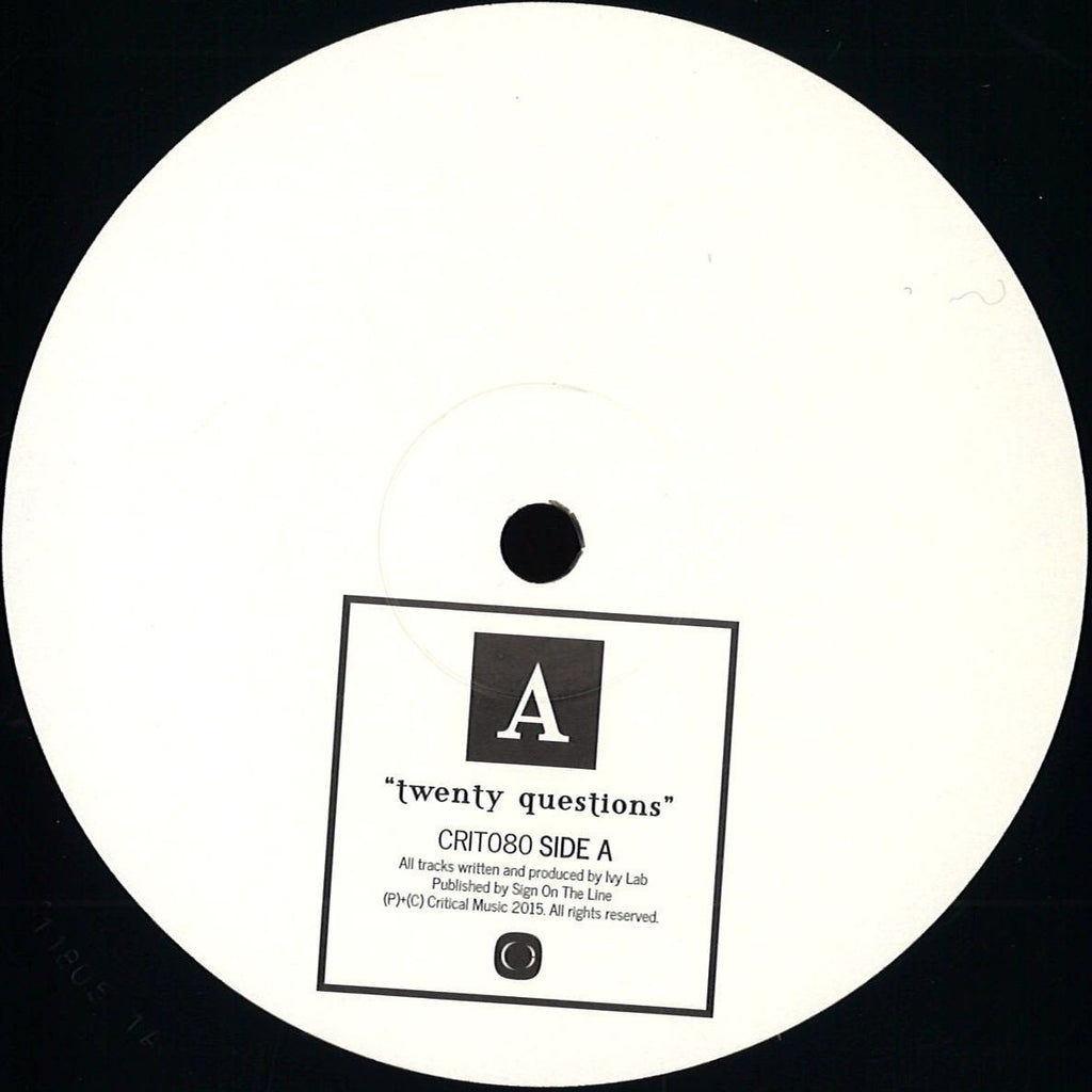 Ivy Lab ‎– Twenty Questions EP - Critical Recordings ‎– CRIT080 REPRESS