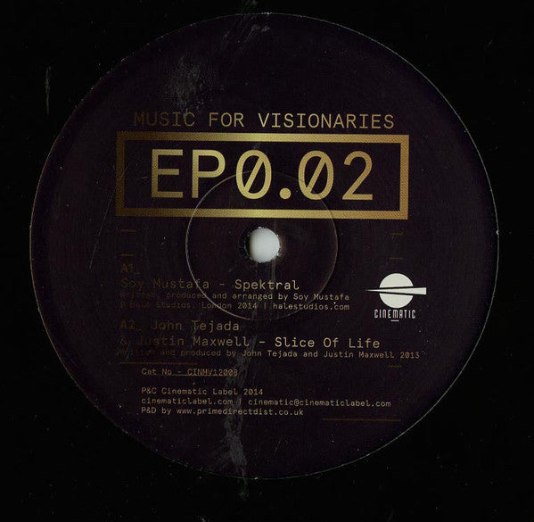 "Various ‎– Music For Visionaries EP0.02 12"" Cinematic Recordings ‎– CINMV12008"