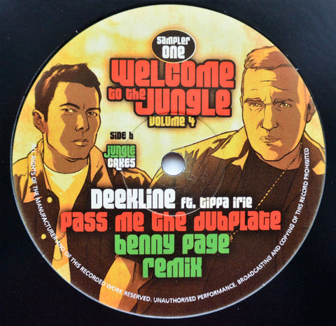 "Ed Solo And Deekline* / Deekline* Featuring Tippa Irie ‎– Welcome To The Jungle Volume 4 (Sampler One) 12"" Jungle Cakes ‎– JC 050"