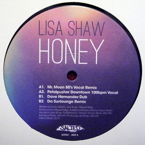 "Lisa Shaw ‎– Honey 12"" Salted Music ‎– SLT052"