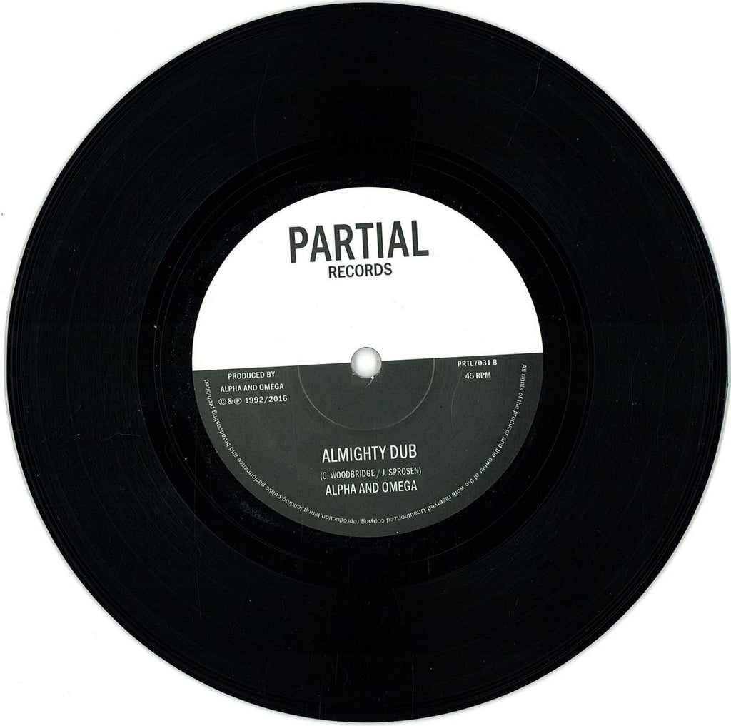 "Alpha And Omega* Feat. Dub Judah ‎– Almighty Jah / Almighty Dub 7"" Partial Records ‎– PRTL 7031"