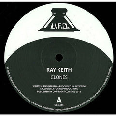 "Ray Keith ‎– Clones / Dub Clash 12"" UFO ‎– UFO009"