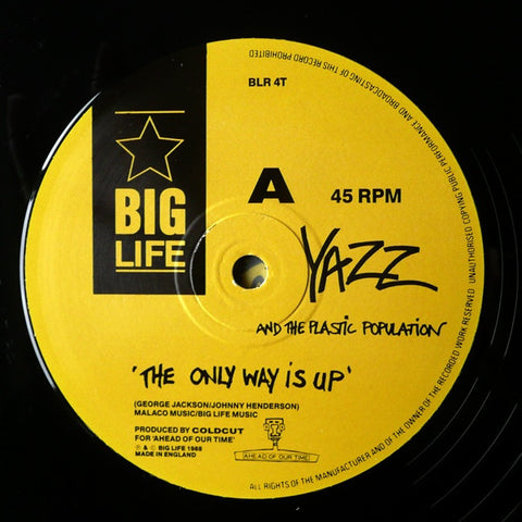 "Yazz And The Plastic Population - The Only Way Is Up 12"" Big Life BLR 4T"