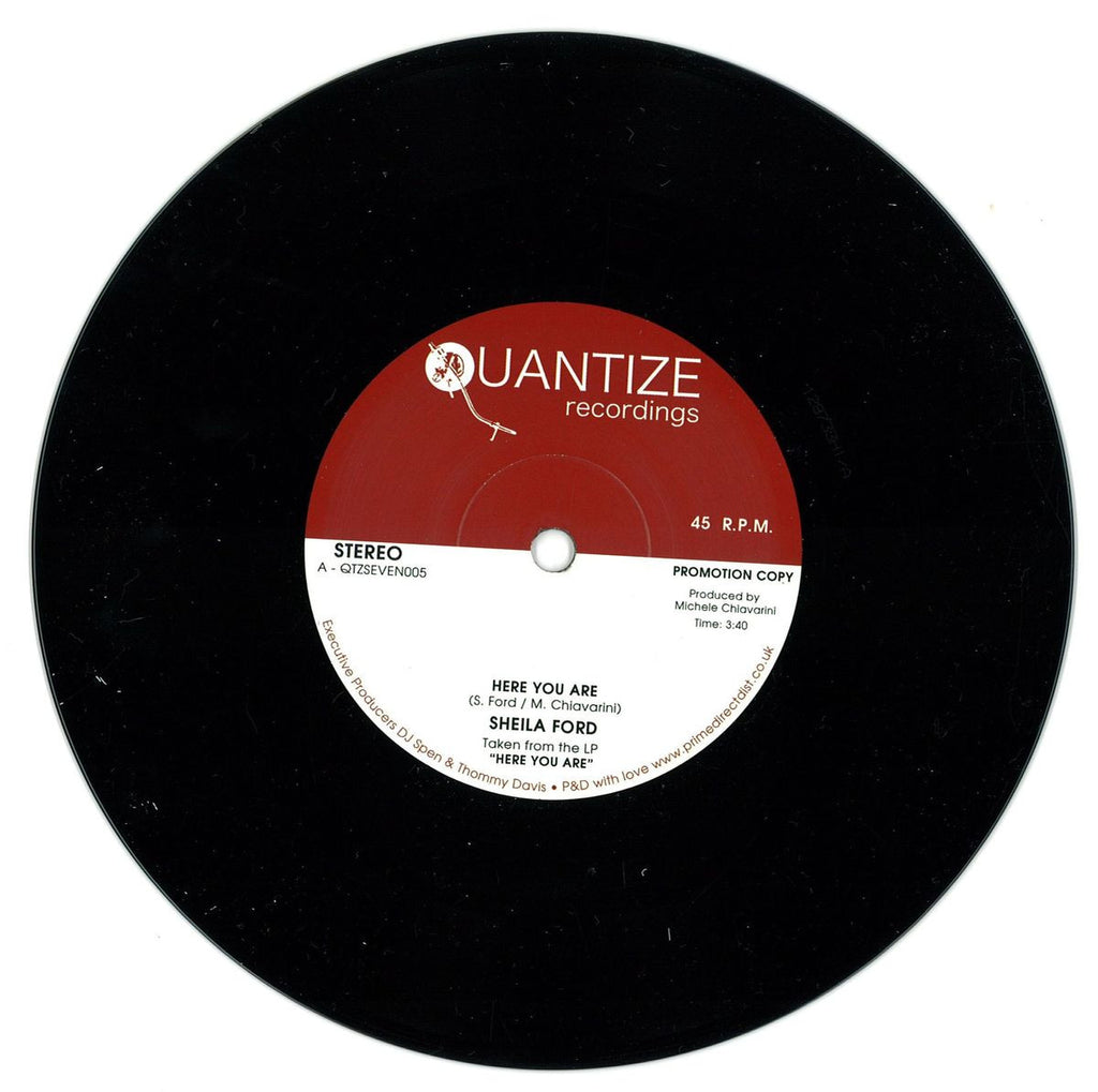 "Sheila Ford ‎– Here You Are 12"" Quantize Recordings ‎– QTZSEVEN005"