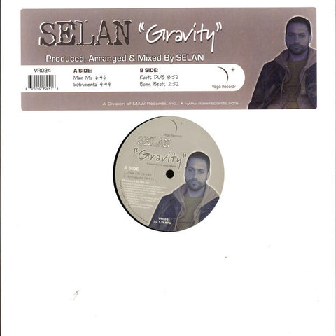 Selan ‎– Gravity - Vega Records ‎– VR024