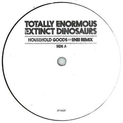"Totally Enormous Extinct Dinosaurs ‎– Household Goods / Garden (Remixes) 12"" Polydor ‎– 3714337"