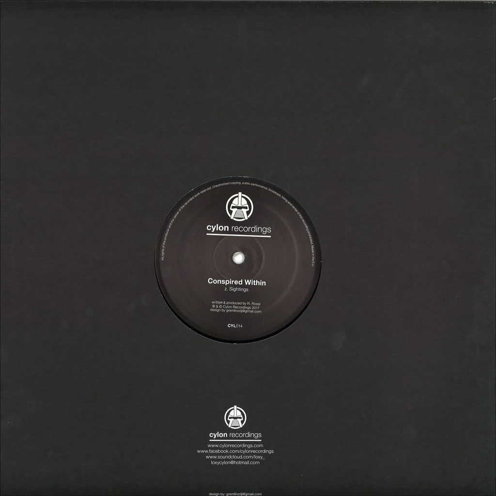 "Conspired Within ‎– Artifact / Sightings 12"" Cylon Recordings ‎– CYL014"