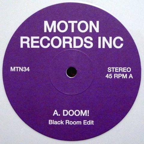 "Diesel Jarvis, Black Room ‎– Doom! 12"" Moton Records Inc ‎– MTN34"