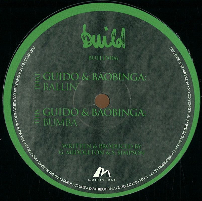 "Guido & Baobinga - Ballin' 12"" Build Recordings BUILD006"