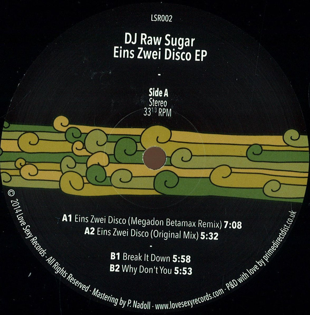 "DJ Raw Sugar - Eins Zwei Disco EP 12"" Love Sexy Records LSR002"