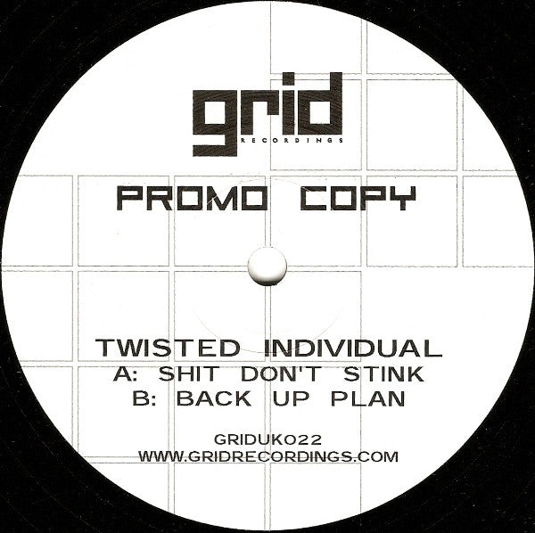 "Twisted Individual - Shit Don't Stink 12"" Promo Grid Recordings GRIDUK022"