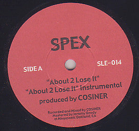 "Spex (2) / The Farthest Artists ‎– About 2 Lose It / Always Have A Rap 7"" Sub-Level Epidemic Recordings ‎– SLE-014"