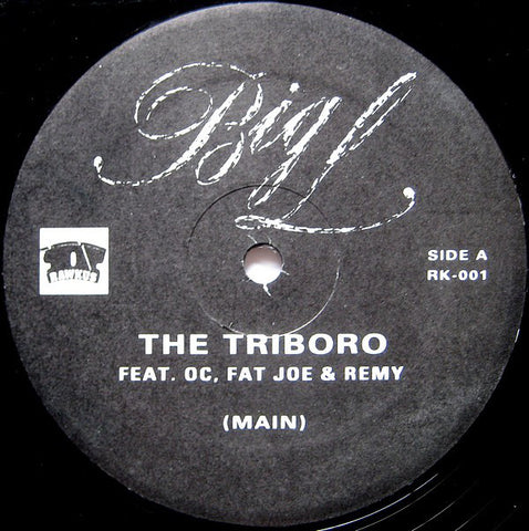 "Big L ‎– The Triboro 12"" Rawkus ‎– RK-001"