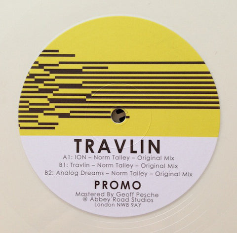 "Norm Talley ‎– Travlin 12"" WHITE Landed Records ‎– LANDEDREC005"