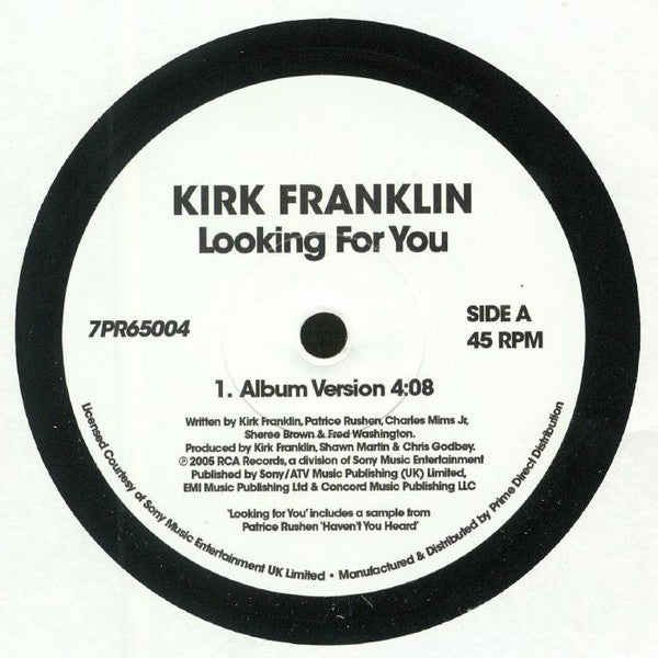 Kirk Franklin ‎– Looking For You - RCA Records ‎– 7PR65004