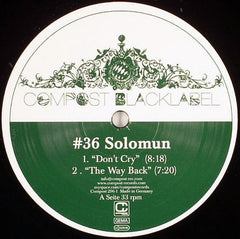 Solomun ‎– Don't Cry - Compost Records ‎– Compost 296-1, Compost Black Label ‎– 36