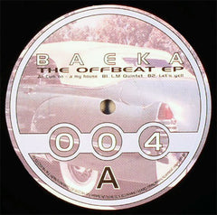 "Baeka ‎– The Offbeat EP 12"" Clear Blu ‎– CLEAR04"