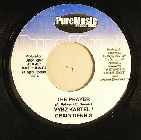 "Vybz Kartel & Craig Dennis / Vital - The Prayer/ Flip And Flop 7"" Pure Music Productions"