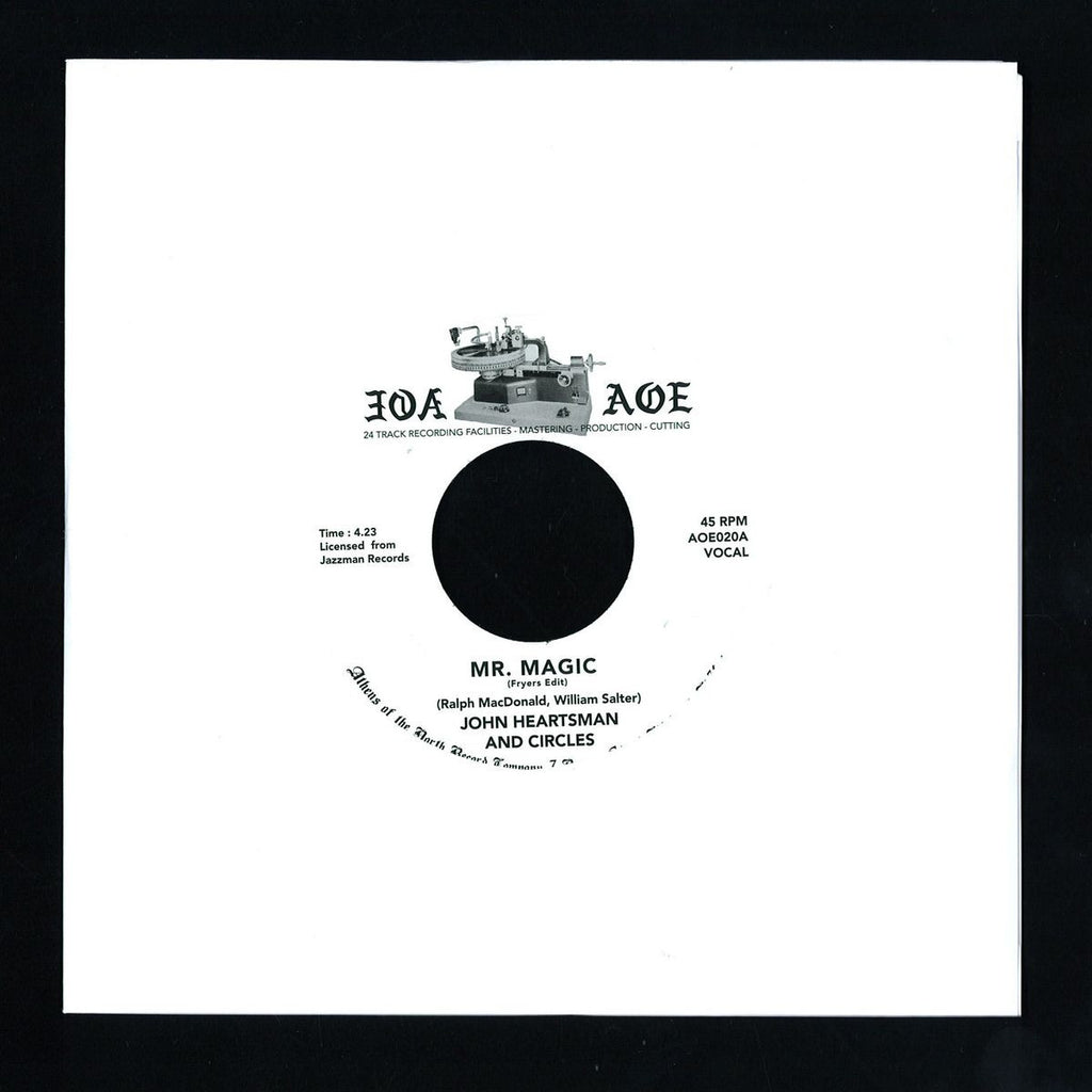 "John Heartsman and Circles - Mr Magic 7"" Athens Of The North ‎– AOE 020"