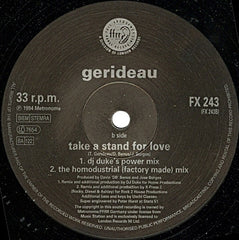 "Gerideau - Take A Stand For Love 12"" FFRR FX 243"