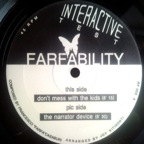 "Farfability ‎– Farf - Ability 12"" Interactive Test ‎– RF 003"